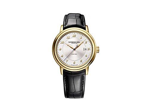 Reloj Automático Raymond Weil Maestro, Oro 18k, 39,5 mm, Día, Aligátor