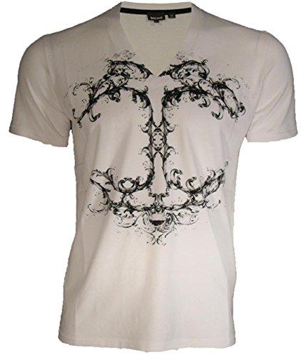 roberto-cavalli-t-shirt-v-neck-logo-print-front