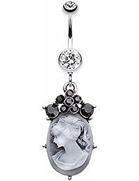 wildklass joyería pendientes de las mujeres anillo victorian Cameo botón