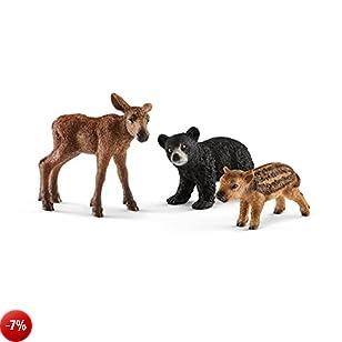 Schleich - 2541457 Animali del Bosco Cuccioli