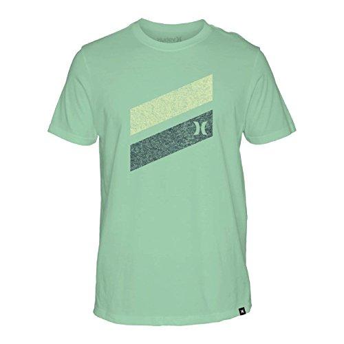 Hurley Icon Slash Push Through Short Sleeve T-Shirt Medium Mint Foam (Icon T-shirt Hurley)