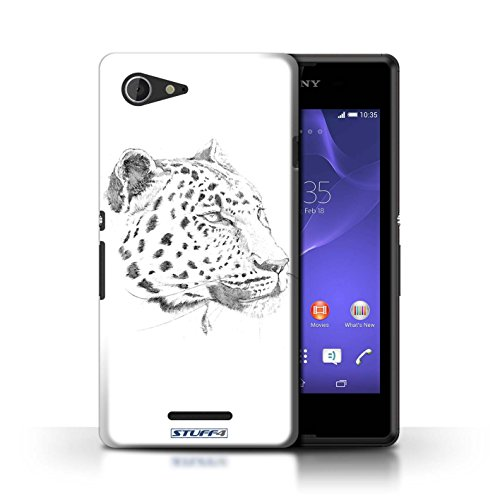 Kobalt® Imprimé Etui / Coque pour Sony Xperia E3 / éléphant conception / Série Dessin Croquis Léopard