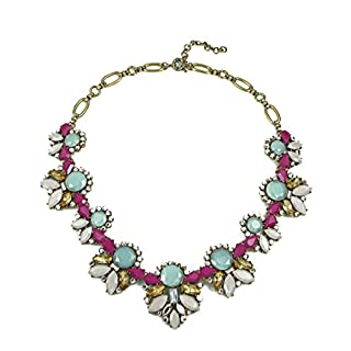Fashion Necklace Choker Highly Embelished Statement Pendent with Imitation Rhinestone, Turquoise, Crystal, Pearl, Ruby, Gem