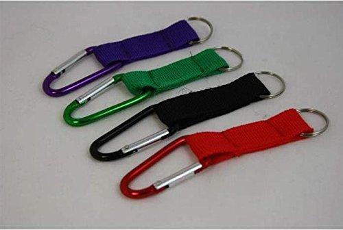 12er-Pack-Karabiner-mit-Schlsselband-4-farbig-sortiert-Schlsselring-Karabinerhaken-Anhnger-Kindergeburtstag-Mitgebsel-Tombola-Schlssel-Anhnger-Schlsselkette