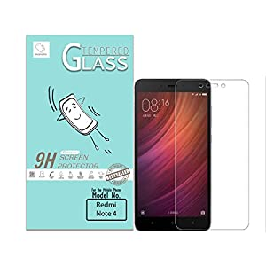 Momoto redmi Note 4 Clear Tempered Glass   Premium Quality   Curves   9H Hardness   Fit   Smudge Proof