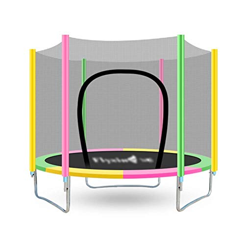 SPTAIR Trampolin , Runder Sprungtisch mit Sicherheitsgitter Combo Bounding Bed Trampolin Fitnessgerät-59 Zoll