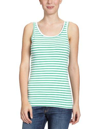 Vero Moda - Camicetta Moda, Senza maniche, Donna, Multicolore (Mehrfarbig (OPT.WHITE Stripes:BRIGHT GREEN)), XL