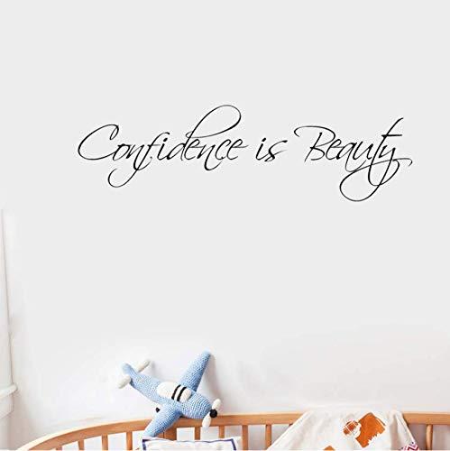 Vertrauen ist Schönheit Wandtattoo PVC Zitat Aufkleber Dekor inspirierend 75 x 22 cm -