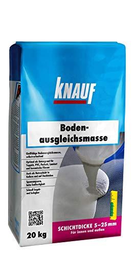 Knauf Bodenausgleichsmasse, Fließ-Spachtel, Nivellier-Masse - Estrich für Boden, innen und außen, 20-kg