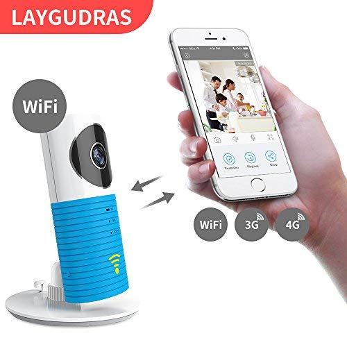 Laygudras drahtlose wifi kamera schlauen hund Smart baby monitor unterstützung P2P Nachtsicht Rekord Video Zwei-wege Audio Bewegung erkannt für ios / android tablet / smartphone(Blau)