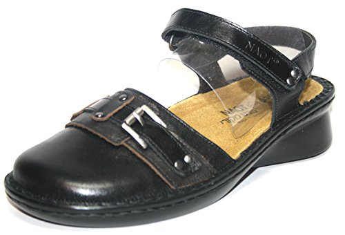 Naot Tenor, Sandali donna Schwarz (Black Comb.)