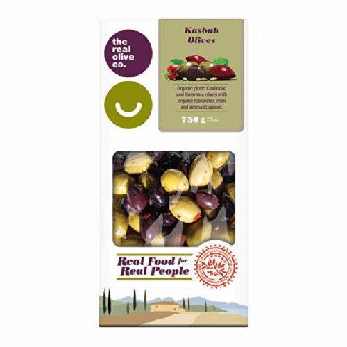 The Real Olive Co. Organic Kasbah Mixed Pitted Green & Kalamata Olives 750g