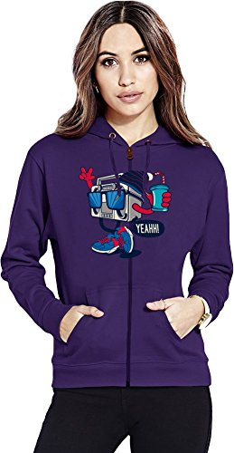Cool radio Womens Zipper Hoodie X-Large
