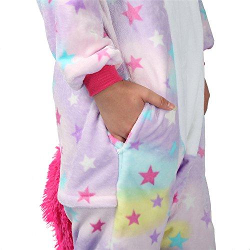 Pigiama o Costume di Carnevale Halloween Pigiama Cosplay Party Onepiece Intero Animali Unicorno Regalo di Compleanno Per Adulti Adolescenziale Ragazzi Purple