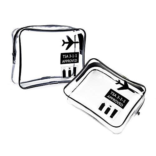 Eizurs Trousses à Maquillage Sac Cosmétiques Multifonctions Trousse de Toilette Kit de Voyage Brosses Organisateur pour Femmes ou Filles 2 pièces