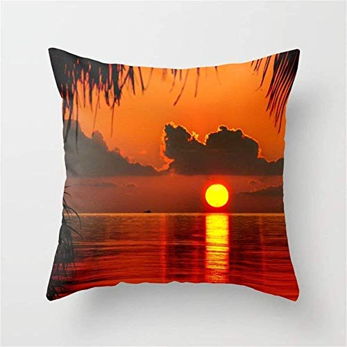 Sunset Cushion Cover Throw Pillow Case 18x18 inch
