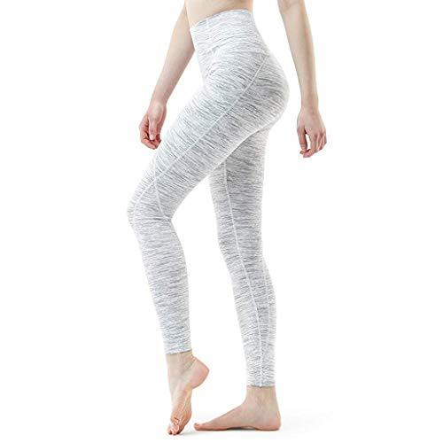 LInkay Damen Hose, Workout Out Laufen Yoga Athletisch Yoga-Hose Sport Taschengamaschen Fitness Sport Strumpfhose Mode 2019 (Weiß, Medium)
