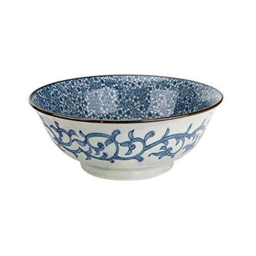 Tazón de Sopa Retro japonés -20.5cm (8 Pulgadas) Utensilios de cerámica para el hogar Grandes Ensalada de tazones de Ramen Tazón de Fideos instantáneos (Color : Tianxiang)