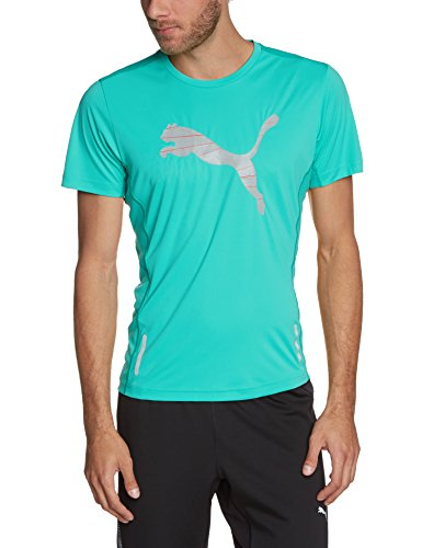 PUMA Herren T-Shirt PR Pure Nightcat Short Sleeve Tee Pool Green