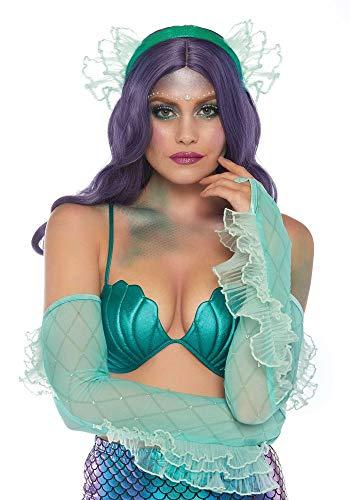 (shoperama Kostüm-Zubehör Set Meerjungfrau Armstulpen und Kopfschmuck von Leg Avenue Nixe Accessoire)