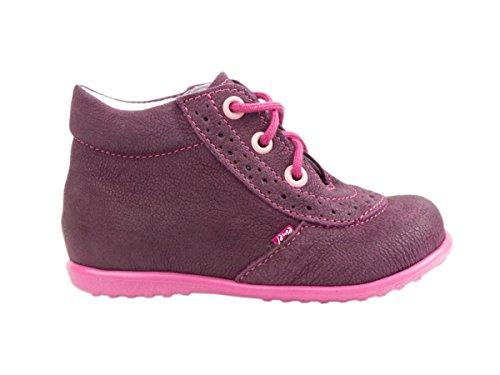 Chaussures en cuir Emel fabriquées main en UE – Style décontracté en cuir violet lacets- pointure 22 violet