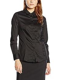 MEXX Taillierte Hemdbluse aus leichtem Baumwollmix Damen Langarm Businessmode MX3002517