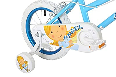 Sonic Angel Girls' Kids Bike 1 Speed Spoke Wheels Fully Enclosed Chain Guard and Easy Reach Brakes, Blue by Sonic