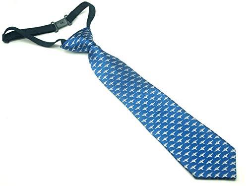 JxucTo Skinny Krawatte gewebt Mikrofaser Krawatte für Jungen Kinder (blau)