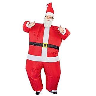 THE TWIDDLERS Disfráz de Papa Noel – Santa Claus Inflable Costume (Adulto) Fiestas de Navidad y Disfraces – Divertido y Gracioso Accesorio de Navidad