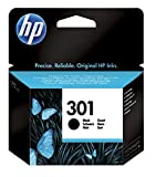 HP 301 CH561EE Cartuccia Originale, da 190 Pagine, Compatibile con le Stampanti a Getto di Inchiostro HP DeskJet 1050, 2540 e 3050, OfficeJet 2620 e 4630, ENVY 4500 e 5530, Nero