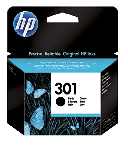 HP 301 CH561EE Cartuccia Originale per Stampanti a Getto di Inchiostro, Compatibile con DeskJet 1050, 2540 e 3050, HP OfficeJet 2620 e 4630, HP ENVY 4500 e 5530, Nero