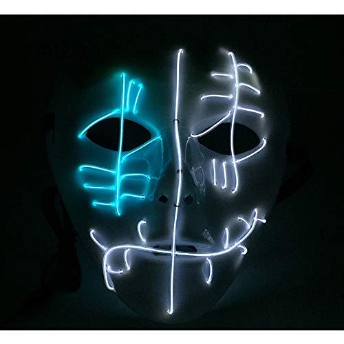 Kostüm Socke Männer Affe - LED Latex Halloween ClownMaske Horror Herren Gruselige Blutige Maskerade Neuheit Erwachsene Dämon Masken Perfekt für Fasching Karneval Kostüm Weihnachten Cosplay Kostüme Für Männer und Frauen