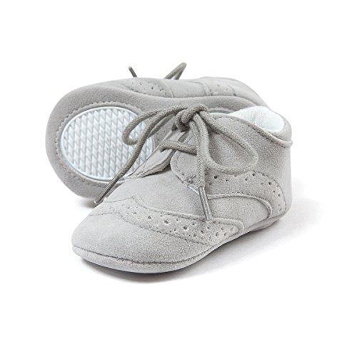 Etrack-Online Baby-/Jungen-Schuhe, Turnschuhe/Sneaker, zum Schnüren, schwarz - Burnish Black - Größe: 0-6 Monate Grau