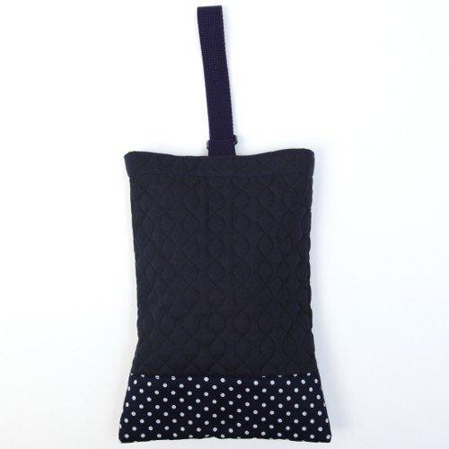 Kids shoes case put slippers, slipper bag quilting type polka dots, dark blue, dark blue x Ox made in Japan N3250300 Handmade sense (japan import)