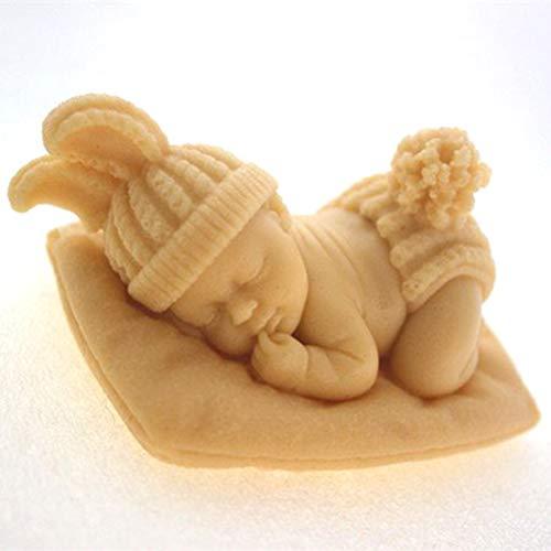 Jelinda stampo in silicone a forma di neonato addormentato n461, candele e altre attività artistiche manuali, ideale per realizzare saponi