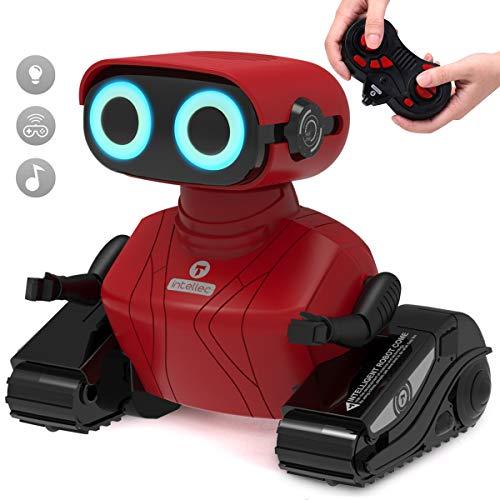 GILOBABY RC Roboter Spielzeug , Elektrisches Ferngesteuertes Autos Spielzeug , Fahrzeuge des Lernens und der Ausbildungs Technik, Rote Farbe Ferngesteuertes Roboter mit Lichtern/Musik , Kinder RC Auto