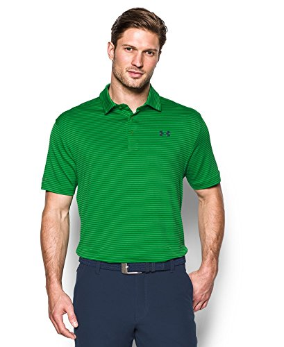 Mens Performance Golf Shirt (Under Armour 2016 ColdBlack Tee Time Performance Stripe Mens Golf Polo Shirt Putting Green Medium)