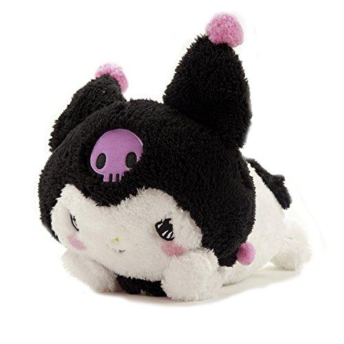 GlamXtensions Plüschtier Kissen Black Schwarz Puppe Plüschtier Katze Hello Kitty Friends by My Melody (Kitty Hello Spielzeug Puppe Plüsch)