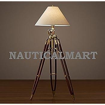 NauticalMart Royal Marine Tripod Floor Lamp Stand: Amazon.co.uk ...
