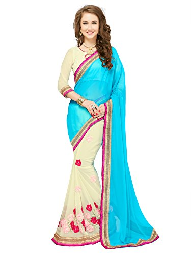 Glory Sarees Georgette Saree (Sukanya Ribbon_Blue)