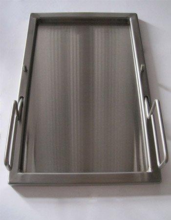 Teppanyaki Edelstahl Grillwanne 48,5x31,5x2 cm fr Grills Gasgrills
