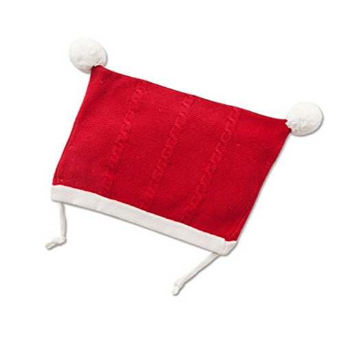 WXLQ Neonato cappello caldo carino protezione del cotone del knit del bambino red two