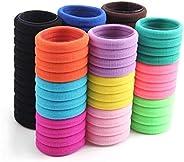 72 pcs BS Multicolor High quality Hair ties Hair pony elastic hairbands