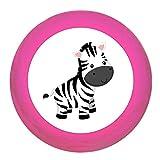 """Schrankgriff """"Zebra"""" pink Holz Buche Kinder Kinderzimmer 1 Stück wilde Tiere Zootiere Dschungeltiere Traum Kind"""