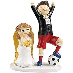 Figura boda futbol novia enfadada 19,5 cm