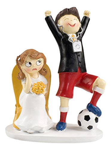 Mopec Y686 - Cake figure for bride and groom wedding couple, 14,5 x 19,5 cm