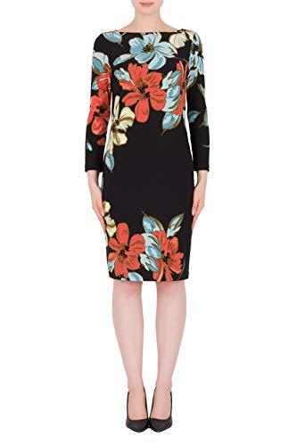 Joseph Ribkoff Black & Multicolor Dress Style 191634 - Spring 2019