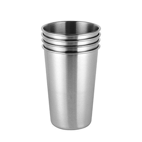 ARKTeK® 17 Unzen BPA freie bleifreie Edelstahl Pint Cups [Packung mit 4 - Cup Saft Sippy