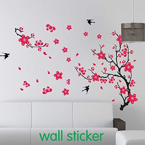 Huaduo 1 Satz Große Swallow Plum Blossom Wandaufkleber Für Bett Zimmer Dekoration & PVC Home Aufkleber Kirschblüte Aufkleber - Fee-bett-satz