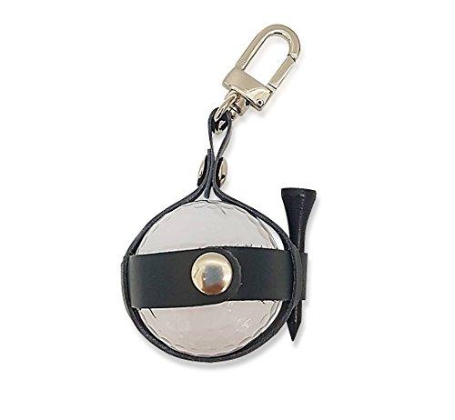 Über die Mall–Golf Ball Tasche natur Leder–Golf Ball Tasche + verloren Ball + Golf Pin Set, navy (Leder Tasche Handtaschen Schokolade)